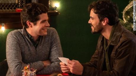"""Ben Lewis and Blake Lee star in """"The Christmas Setup."""""""