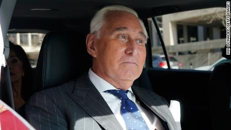 Roger Stone leaves the E. Barrett Prettyman US Courthouse in November 2019 in Washington, DC.