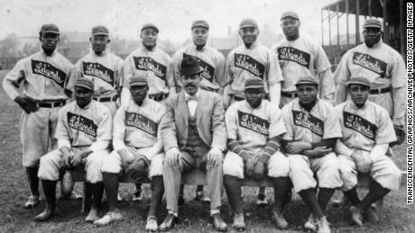 Rube Foster (top right) played for the Chicago Leland Giants, which was managed and owned by Frank Leland, before taking over management and ownership of the team himself in 1911.