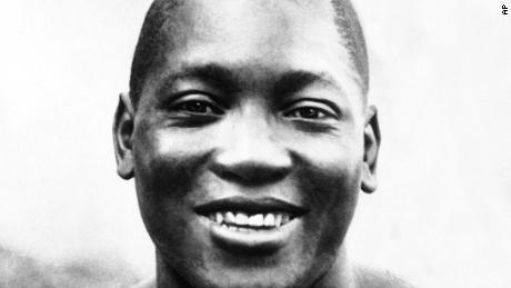 Former boxer Jack Johnson in an undated photo.