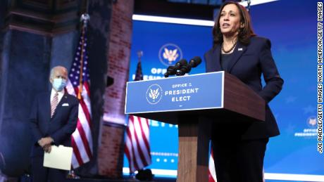 Kamala Harris receives first dose of Moderna Covid-19 vaccine on camera