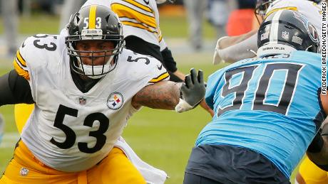 Maurkice Pouncey (left) faces the Tennessee Titans on October 25.