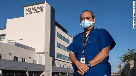 Juan Anchondo, a chief nurses' representatives for National Nurses United, said he wants a stay-at-home order.