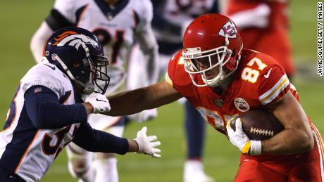 Travis Kelce has become the first tight end to have five 1,000 receiving yard seasons in NFL history.