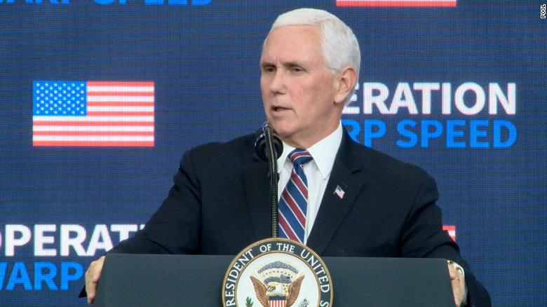 Pence will receive coronavirus vaccine Friday morning