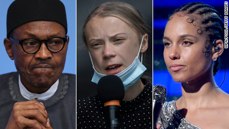 Alicia Keys, Greta Thunberg and others urge Nigeria to free protesters