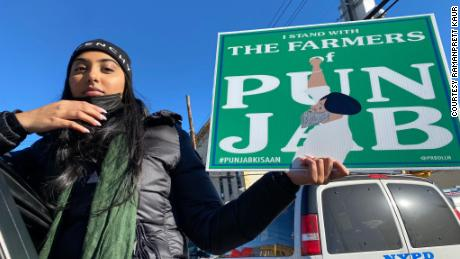 Ramanpreet Kaur demonstrated on December 5 in Queens, New York and estimates around 150 others joined her.