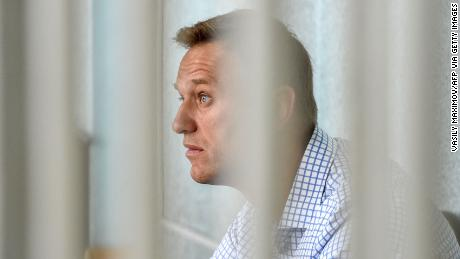 Navalny, here at a court hearing in Moscow, has been arrested many times and convicted of embezzlement charges. He said the accusations were politically motivated.