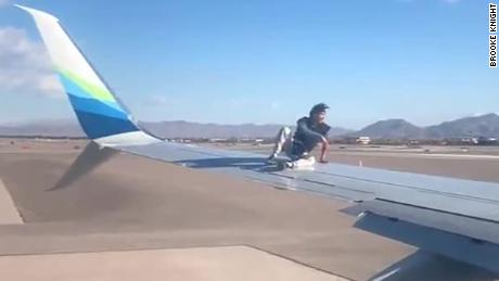 Las Vegas Man Climbs Onto Wing Of Plane Preparing For Takeoff