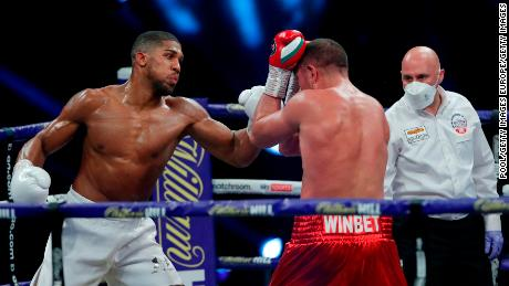 A limited number of fans (1,000)  watched on as Joshua beat Pulev.