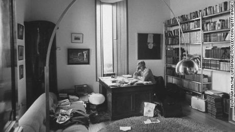 John Le Carré at his desk at home in August 1974.