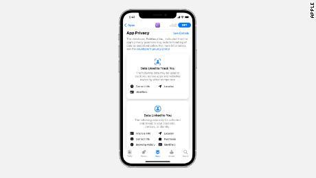 برچسب های جدید حریم خصوصی برنامه اپل به شفاف سازی کجا داده های کاربر کمک می کند.