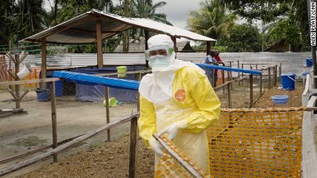Doctor Dadin Bonkole works at the Ingende Hospital's Ebola Red Zone.