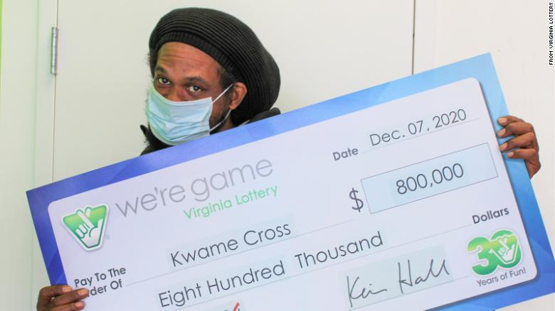 A man played the same numbers on the same day on 160 lottery tickets. He won $  800,000