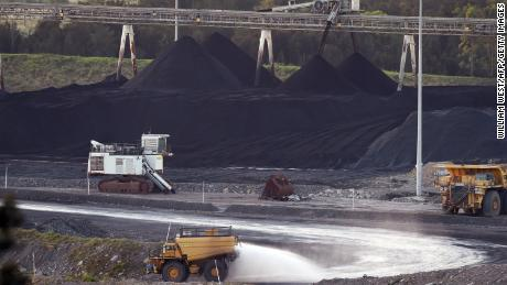 A coal mine in Bulga, the Hunter Valley north of Sydney  on November 18, 2015.