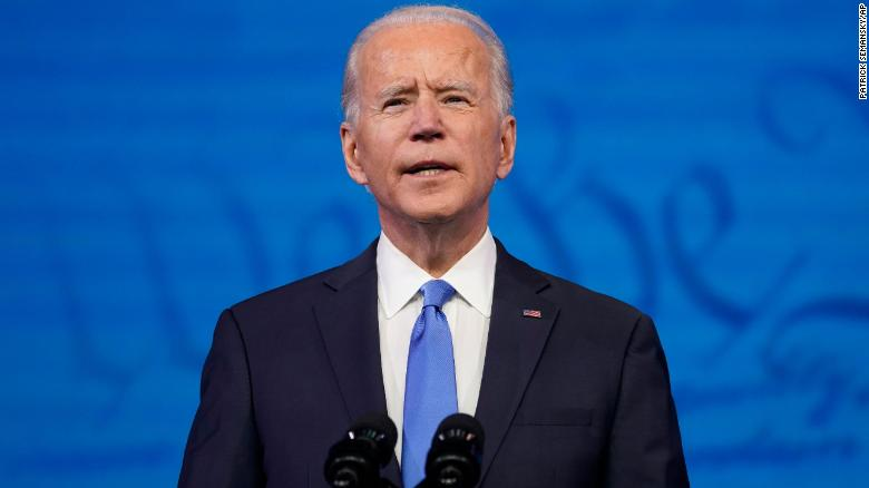 Biden's most forceful attempt yet to create the symbolism of a peaceful transfer of power