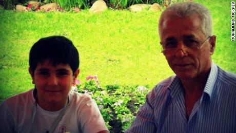 Mokaev and his father, Murad.