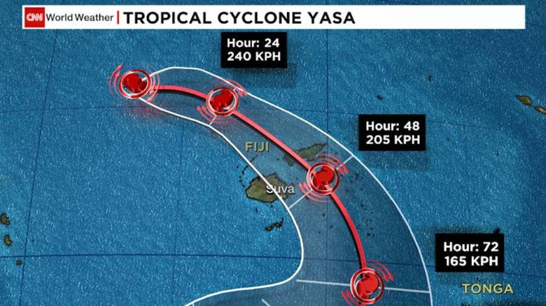 Cyclone Yasa: Powerful storm heads for Fiji with hurricane-force winds