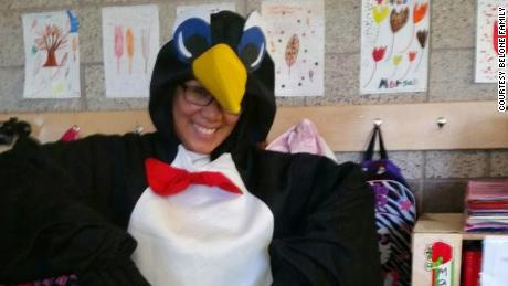 Philamena Belone loved to dress up and celebrate with her students.