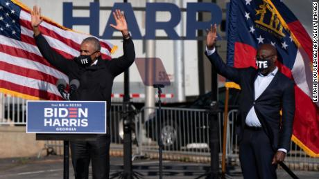 Obama appears in three digital campaign ads for Georgia's Raphael Warnock