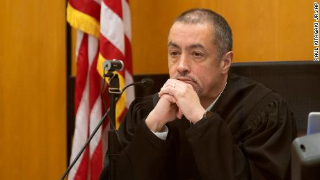 Judge James Arguelles listens to a victim impact statement during the sentencing hearing for Roy Charles Waller on December 18, 2020.
