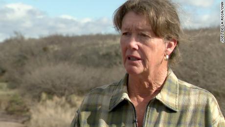 Kelly Kimbro's ranch in Southeast Arizona now has several miles of new border wall.