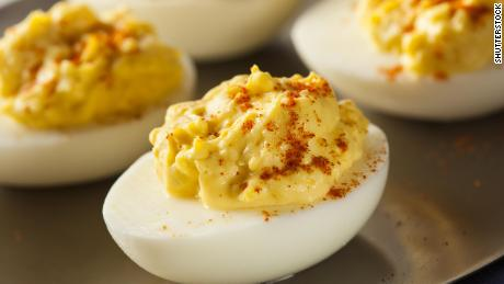 Add a finishing touch to deviled eggs with a sprinkle of smoked Spanish paprika.