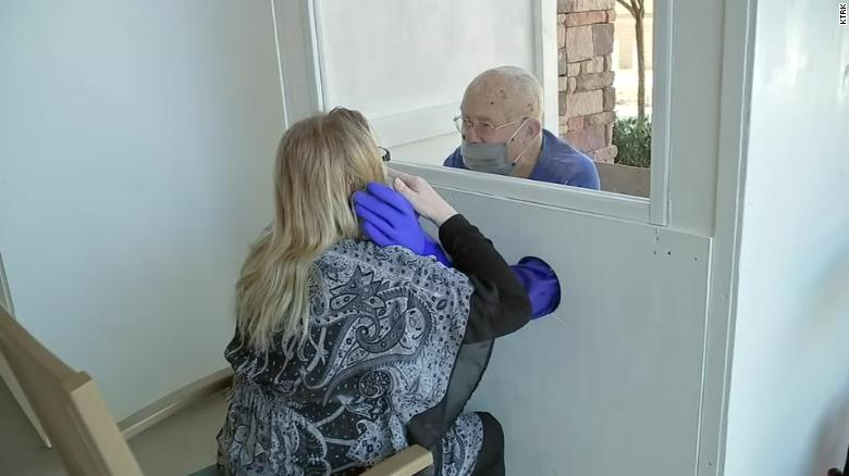 A Boy Scout troop created a 'hug booth' for nursing home residents who couldn't touch their loved ones