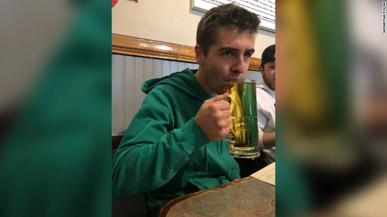 A father who died years ago left his son $  10 to buy his first beer when he turned 21