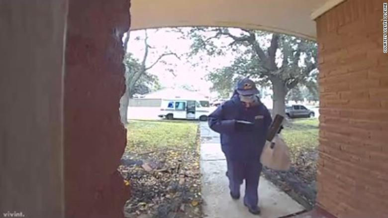 Mail carrier makes a special delivery for a mom battling Covid-19