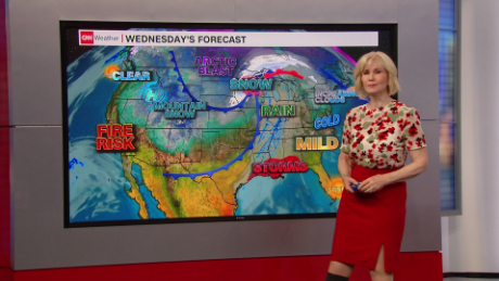 A Blizzard, severe storms, and an Arctic airmass for the central US
