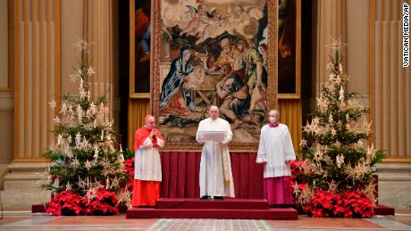 Pope Francis calls on countries to share Covid-19 vaccines in Christmas message