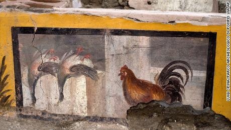 An undated photo shows the ancient eatery in the Pompeii archeological park, naby Napels.