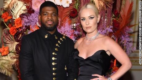 "PK Subban and Lindsey Vonn attend as Harper's BAZAAR celebrates ""ICONS By Carine Roitfeld"" at The Plaza Hotel."