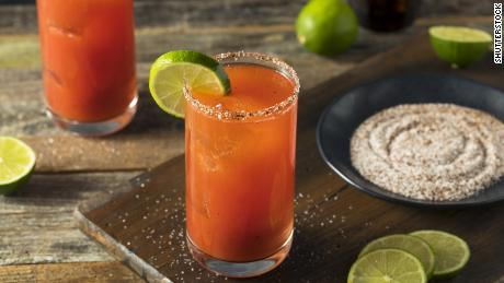 Serve each michelada in a glass rimmed with salt and cayenne pepper.
