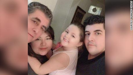 "Zelene Blancas was ""the best aunt,"" her brother said. She is seen here with her father, niece and brother."