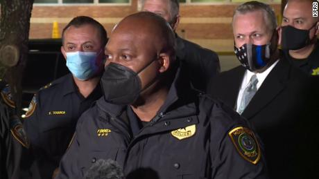Houston Police Department Assistant Chief Troy Finner speaks during a press conference after three sheriff's deputies were shot outside a nightclub on Sunday.