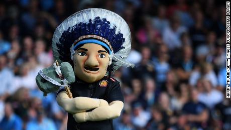 "Exeter Chiefs rugby team has retired its mascot ""Big Chief"" but will not remove the ""Chiefs"" part of its name."