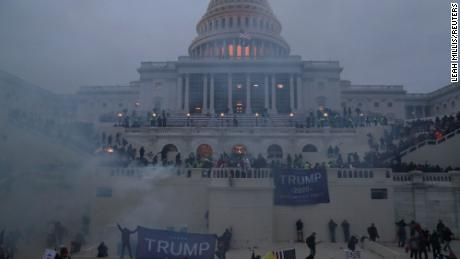 Rioters overwhelmed security at the Capitol on January 6.