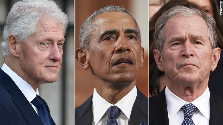 Former Presidents Obama, Bush and Clinton honor Biden as America's new leader in joint video