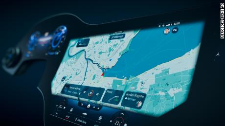 The car's software will suggest different destinations and vehicle options based on the time of day and other variables.