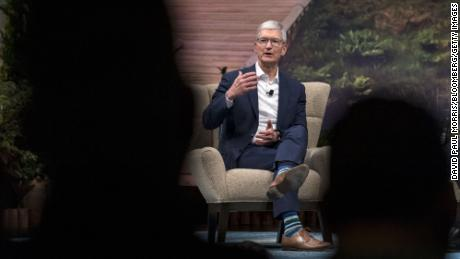 Apple CEO Tim Cook speaks during a conference in San Francisco in 2019.