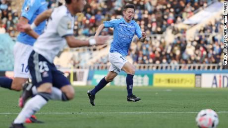 Miura makes a run against Yokohama F Marinos.