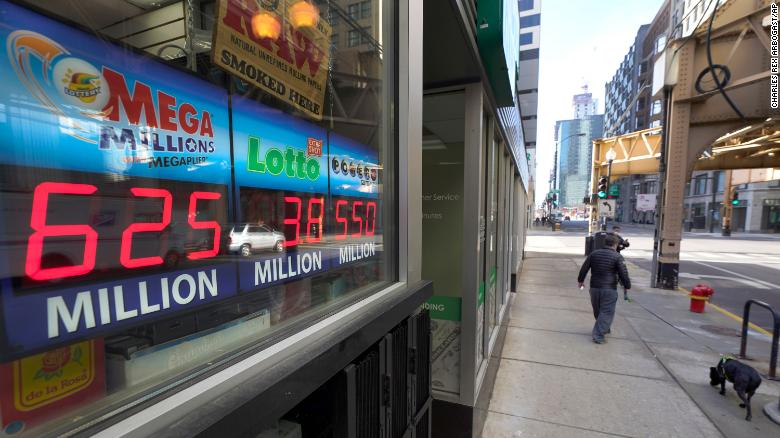 The Mega Millions jackpot is at $  625 milioni, making it the fourth largest prize in the lottery game's history