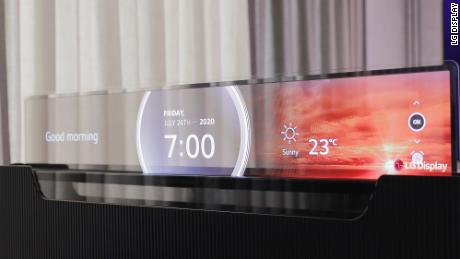 LG's transparent TV could be used to display information in public settings, like restaurants or malls
