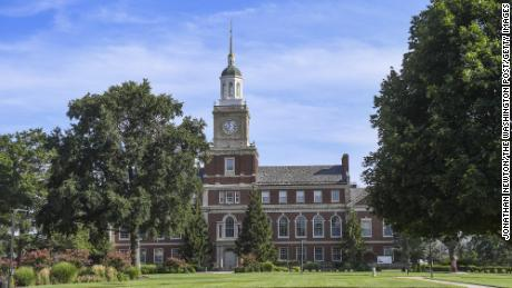 A fall 2020 picture of Howard University's campus. The school' is one of several historically Black colleges and universities that participates in a tech exchange program with Google.