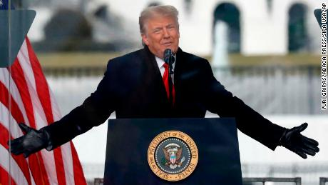 """Donald Trump addresses supporters at """"Save America March"""" in Washington on January 6."""