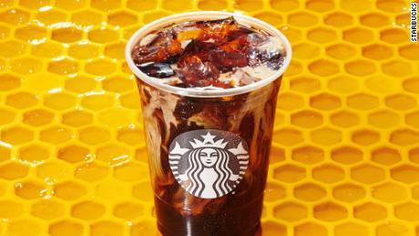 Starbucks' new Honey Almondmilk Cold Brew drink.