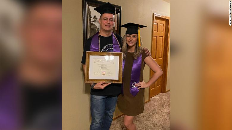 This Illinois dad surprised his family with a bachelor's degree from the same university as his daughter