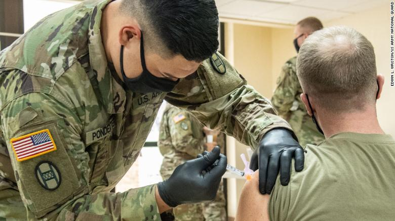 Pentagon close to reaching agreement to provide around 450,000 Covid-19 vaccinations a day